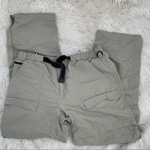 The North Face Relax Zip Off Beige Shorts Size XL